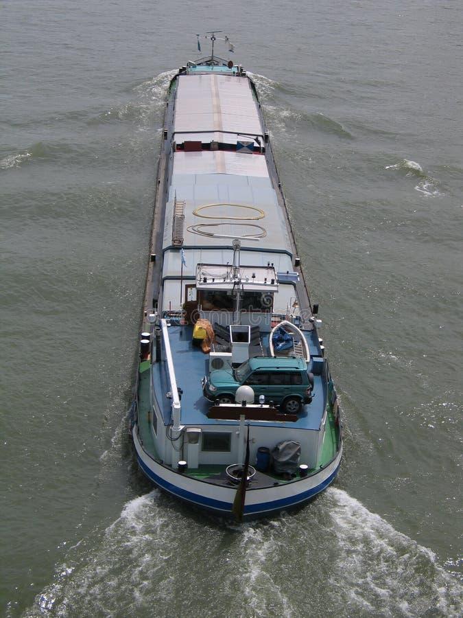 powietrzną statku towarowego widok rzeki obrazy stock
