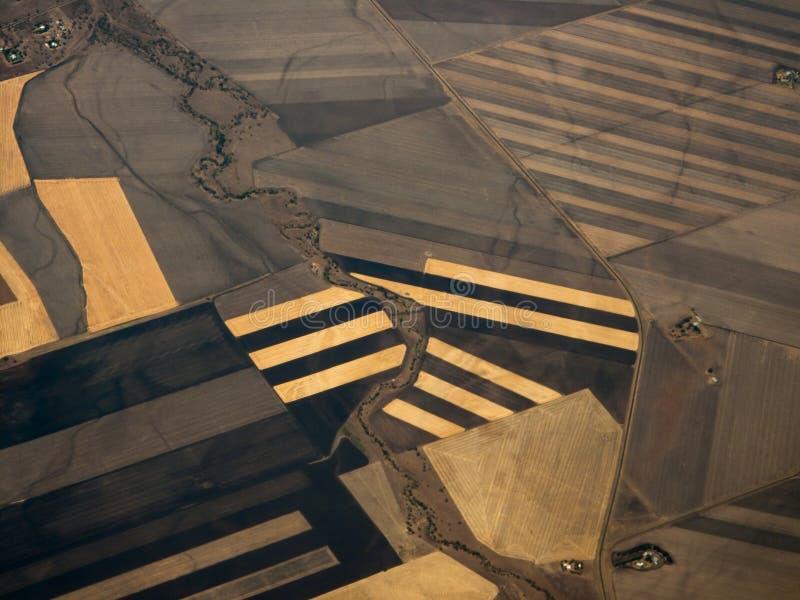 powietrzna au zakończenia uprawa deseniuje qld widok obrazy stock