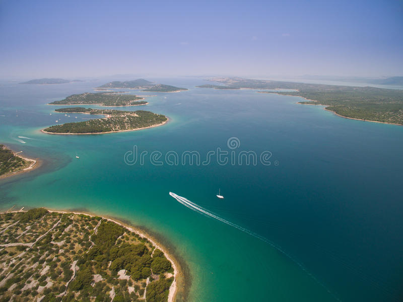 Powietrzna fotografia Adriatycki, Chorwacja fotografia royalty free