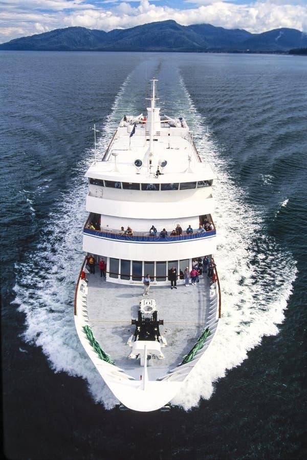 Powietrzna fotografia Alaska statek wycieczkowy obrazy stock