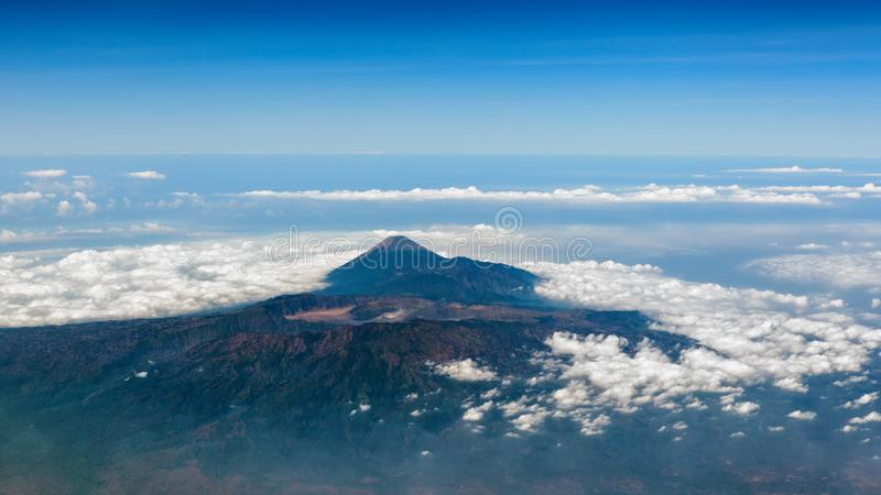 Powietrzna fotografia Bromo Tengger Semeru park narodowy obraz royalty free