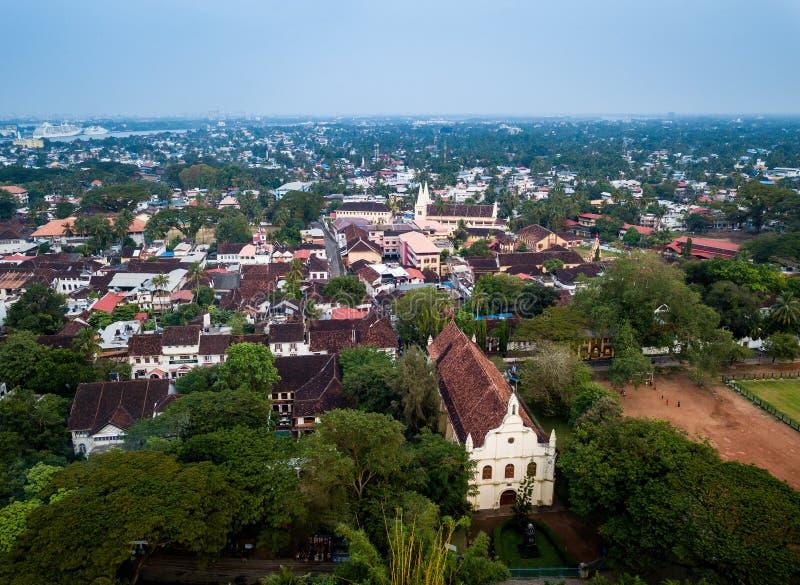 Powietrzna fotografia Kochi w India obrazy royalty free