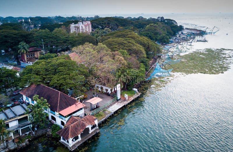 Powietrzna fotografia Kochi w India zdjęcia stock