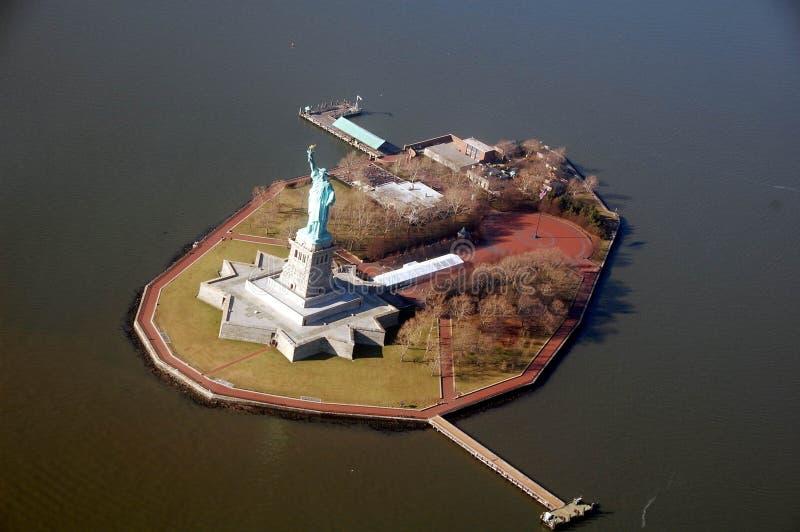 Powietrzna fotografia swobody wyspa fotografia stock