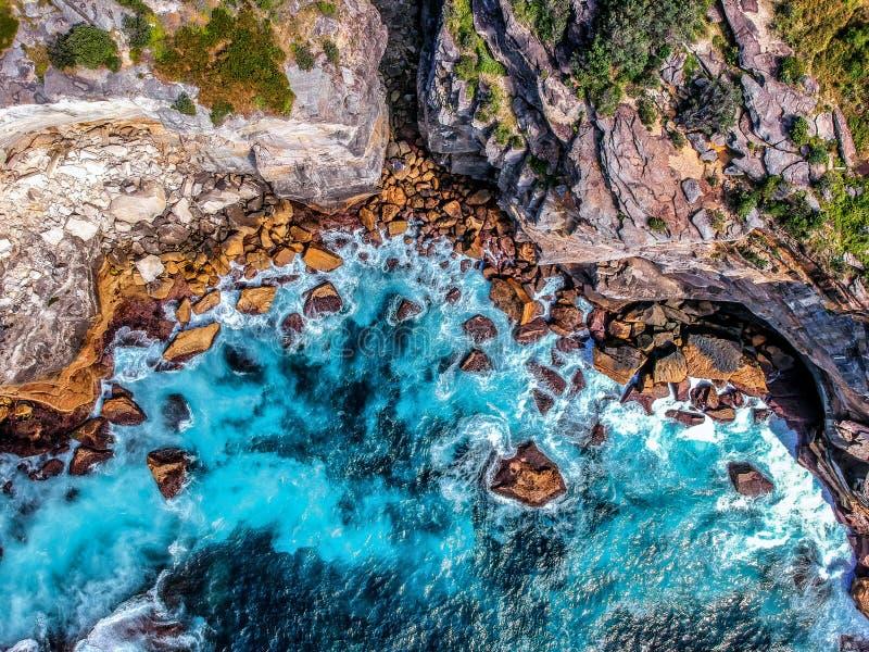 Powietrzna fotografia Sydney - diament zatoka zdjęcie stock