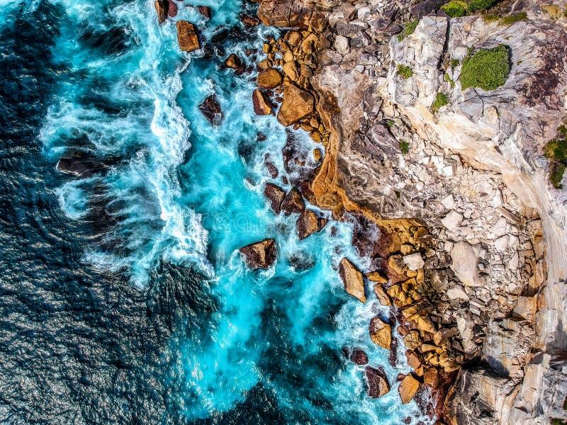 Powietrzna fotografia Sydney - diament zatoka obrazy royalty free