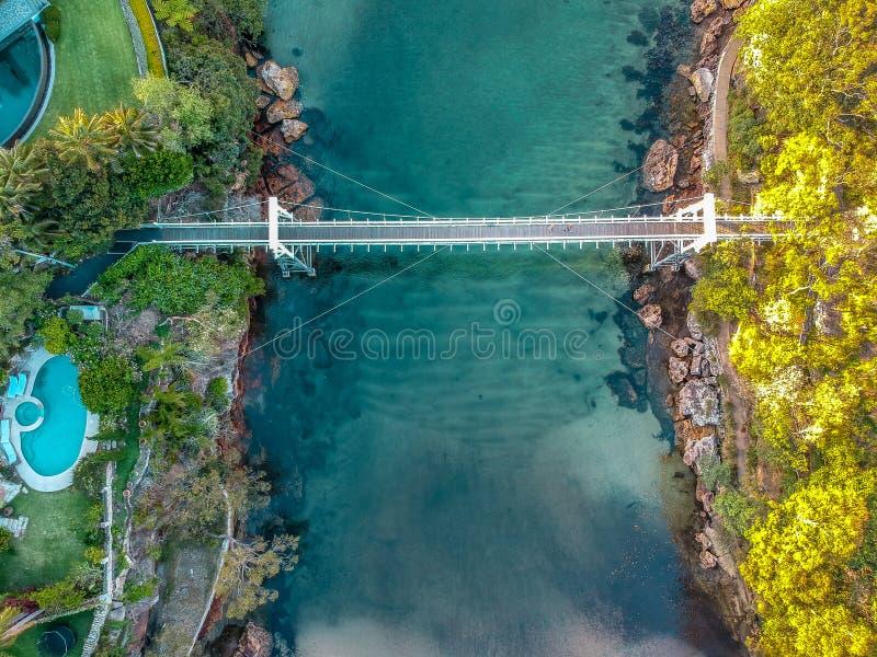 Powietrzna fotografia Sydney - pietruszki zatoki rezerwa zdjęcie royalty free