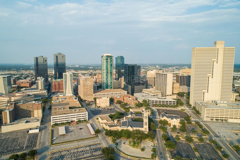 Powietrzna fotografia W centrum Fort Worth Teksas USa fotografia stock