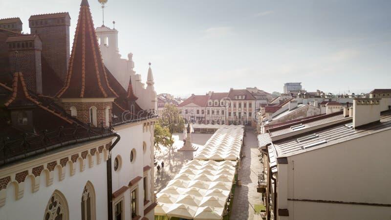 Powietrzna panorama rynek w Rzeszowskim obraz royalty free