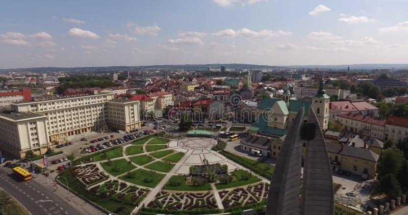 Powietrzna panorama rynek w Rzeszowskim, Polska fotografia royalty free