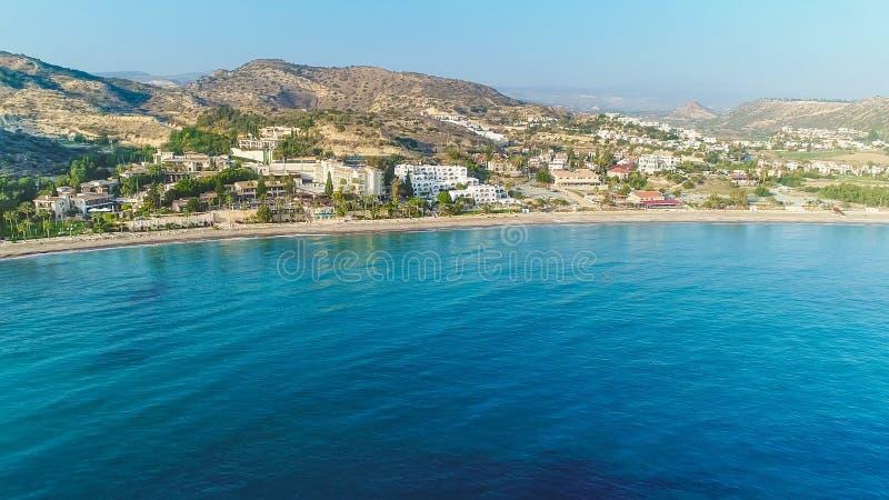 Powietrzna Pissouri zatoka, Limassol, Cypr obraz stock
