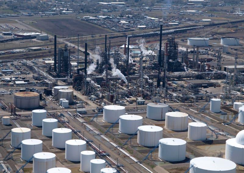 powietrzna rafineria ropy naftowej zdjęcie stock