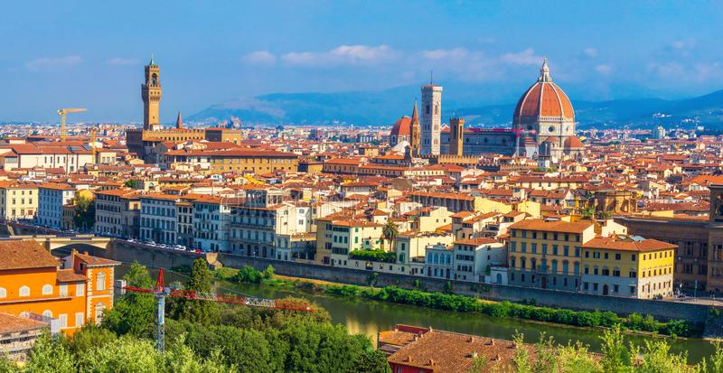 powietrznego katedralnego pejza? miejski s?awny Florence Italy widok Włoszczyzny Firenze miasto obrazy royalty free