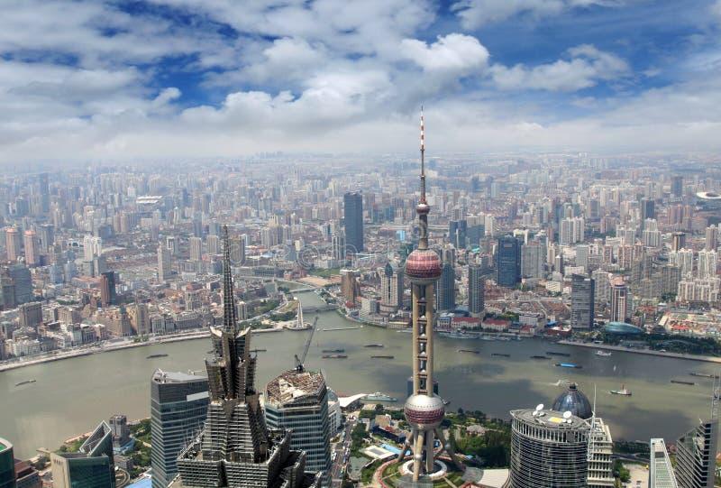powietrznego miasta nowożytny widok obraz royalty free