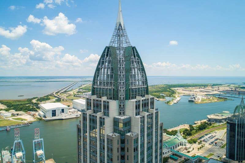 Powietrznego regionu banka Alabama Mobilny usa fotografia royalty free