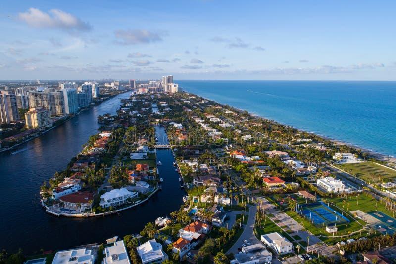 Powietrznego wizerunku FL Złoty Plażowy usa obrazy stock