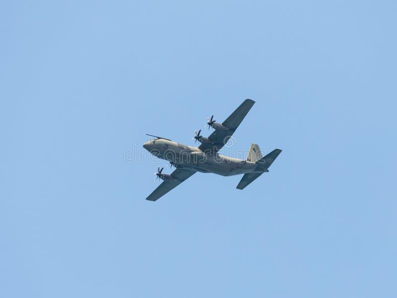Powietrzny ładunku samolot uczestniczy w lotniczej paradzie, oddanej 70th rocznica niezależność Izrael obrazy stock