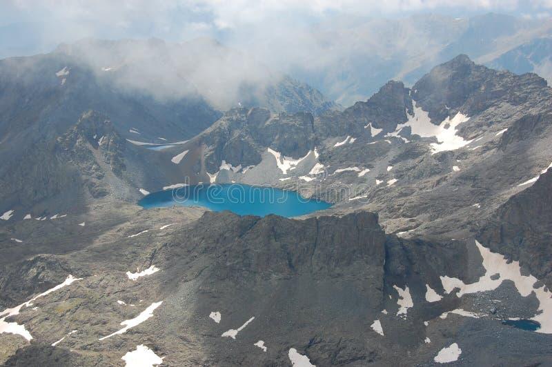 powietrzny błękitny jeziorny widok zdjęcia royalty free