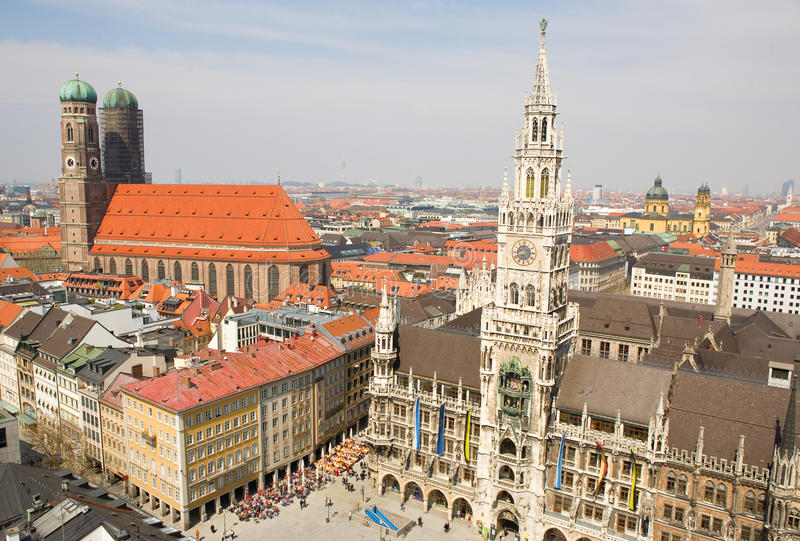 powietrzny bavaria Germany munchen widok zdjęcie stock
