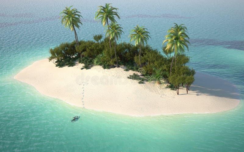 powietrzny caribbeanl pustyni widok ilustracji