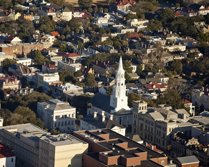 powietrzny Charleston sc widok obraz royalty free