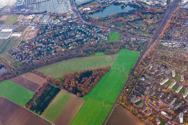 powietrzny Dusseldorf Germany obrzeży widok obraz stock