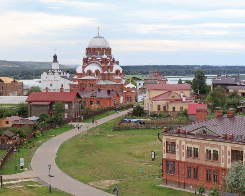Powietrzny iew Sviyazhsk zdjęcie stock
