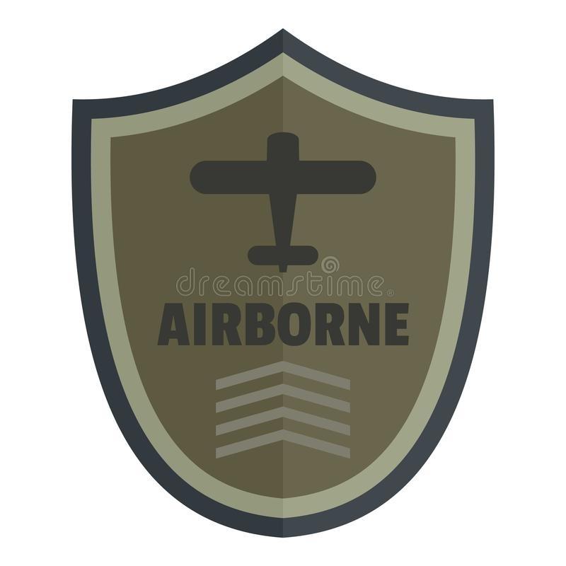 Powietrzny ikona logo, mieszkanie styl ilustracji
