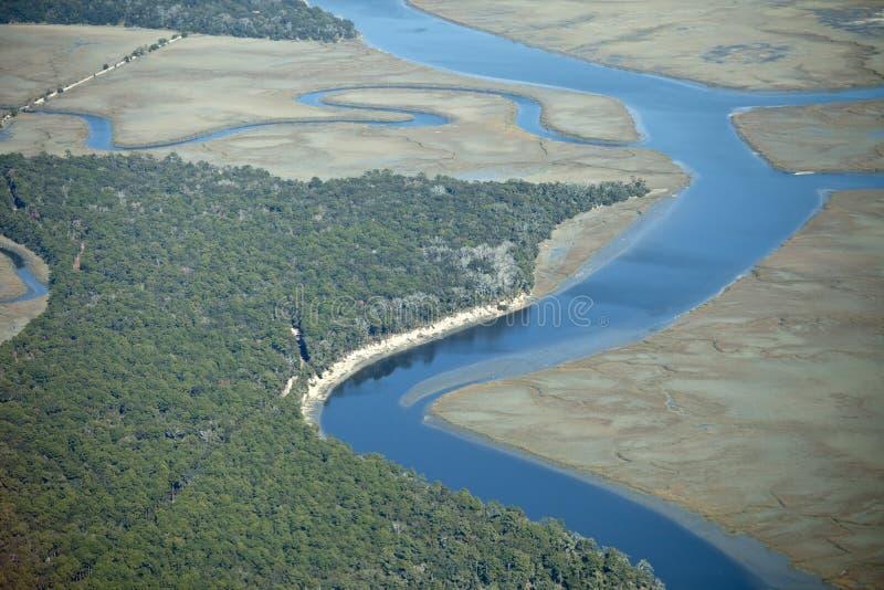 powietrzny lasowy morski widok zdjęcie royalty free