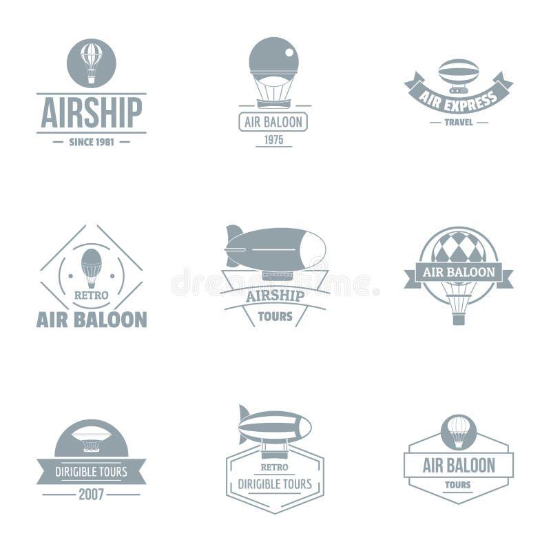 Powietrzny loga set, prosty styl ilustracji