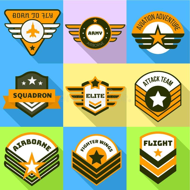 Powietrzny logo set, mieszkanie styl royalty ilustracja