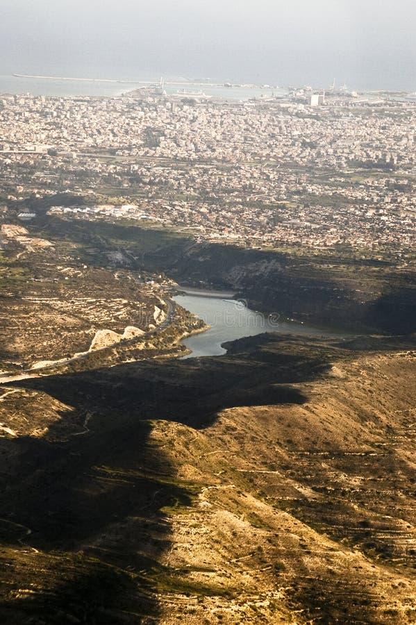 powietrzny miasta Limassol widok fotografia stock