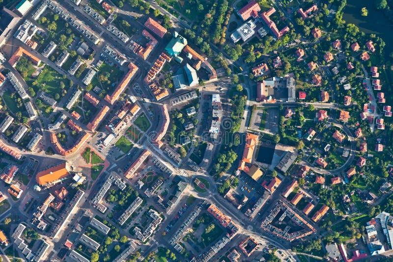 powietrzny miasta nysa widok fotografia stock