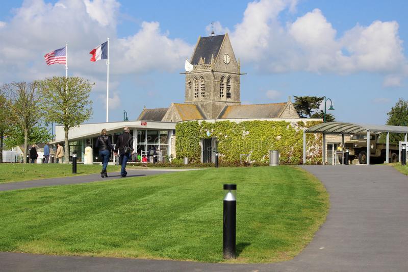 Powietrzny Muzealny Sainte-Mère-à ‰ glise obrazy royalty free