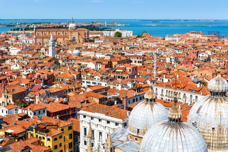 Powietrzny panoramiczny widok Wenecja miasto w lecie fotografia royalty free