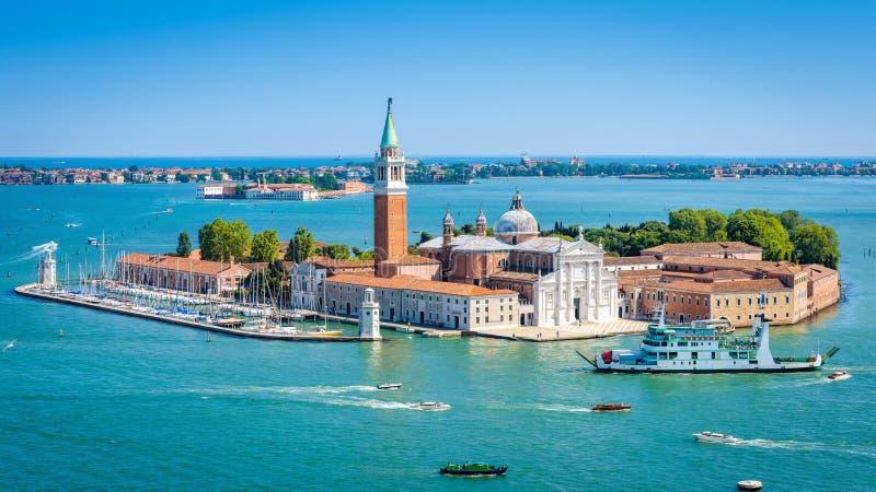 Powietrzny panoramiczny widok Wenecja, Włochy obrazy royalty free