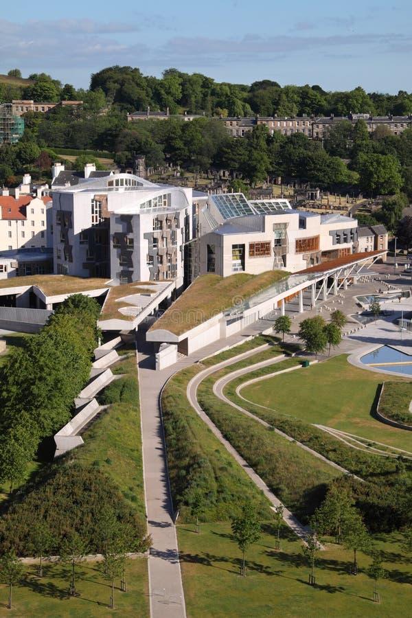 powietrzny parlamentu scottish widok zdjęcia stock