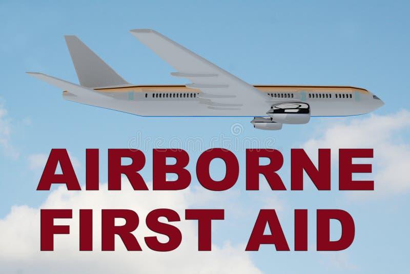 Powietrzny pierwszej pomocy pojęcie ilustracja wektor