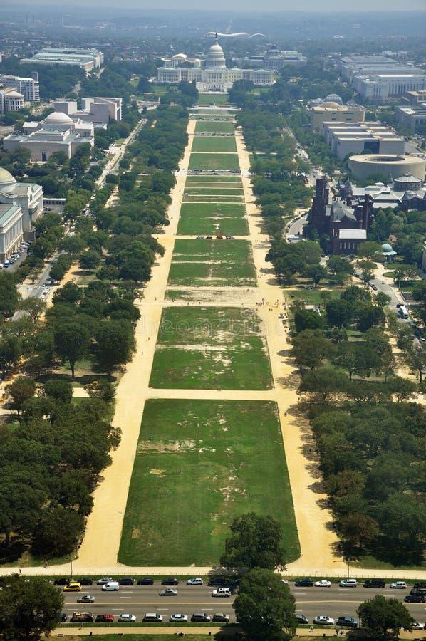 powietrzny pomnikowy widok Washington zdjęcie royalty free
