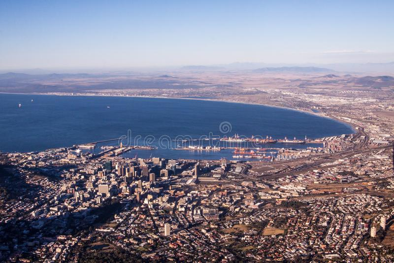 powietrzny przylądka miasteczka widok zdjęcia royalty free