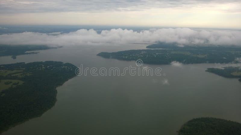 Powietrzny rzeczny widok zdjęcie royalty free