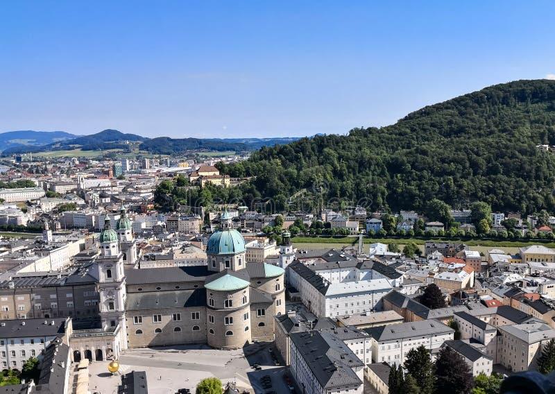powietrzny Salzburg widok obrazy stock