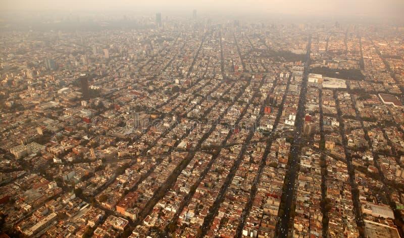powietrzny samolotowy miasta df Mexico miasteczka widok zdjęcie royalty free