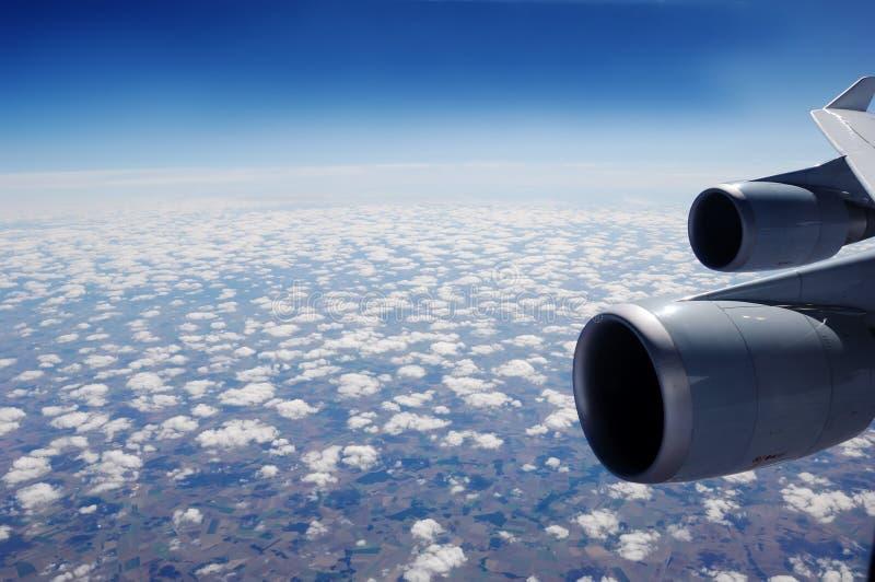 powietrzny samolotowy widok obrazy stock