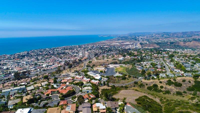 Powietrzny San Clemente patrzeje w kierunku Dana punktu zdjęcia stock