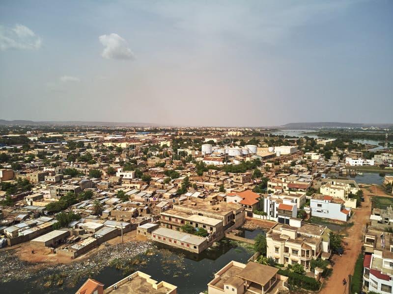 Powietrzny trutnia widok niarela Quizambougou Niger Bamako Mali fotografia royalty free