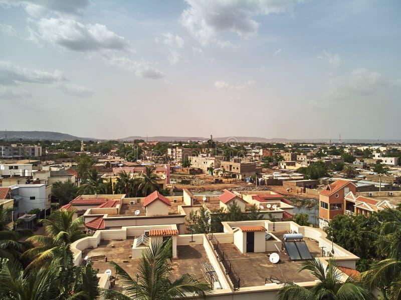 Powietrzny trutnia widok niarela Quizambougou Niger Bamako Mali obrazy royalty free