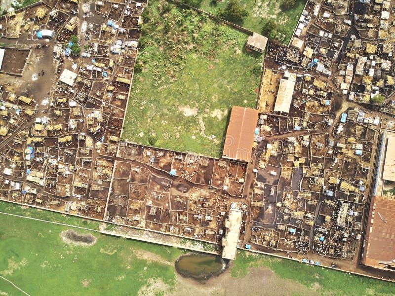 Powietrzny trutnia widok niarela Quizambougou Niger Bamako Mali zdjęcie royalty free