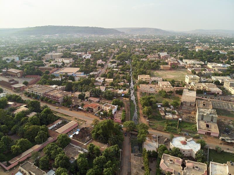 Powietrzny trutnia widok niarela Quizambougou Niger Bamako Mali fotografia stock