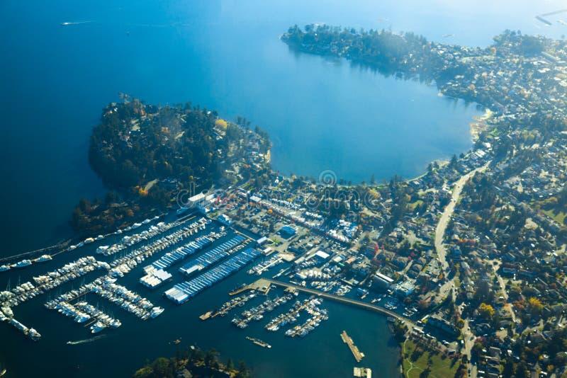 Powietrzny Vancouver wyspy Wiktoria słoneczny dzień obrazy royalty free